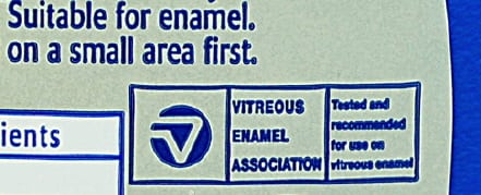 Image: Example VEA logo on an enamel cleaning product